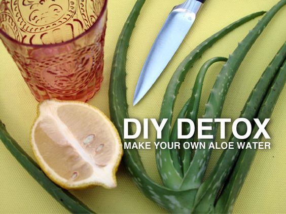 New Year's Detox: Make Your Own Aloe Water >> http://blog.diynetwork.com/maderemade/2014/01/01/diy-detox-make-your-own-aloe-water?soc=pinterest