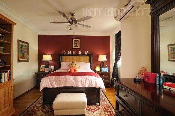 Maroon bedroom, Maroon walls and Bedroom ideas on Pinterest