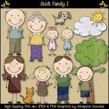 Stick Family 2 Clip Art Download