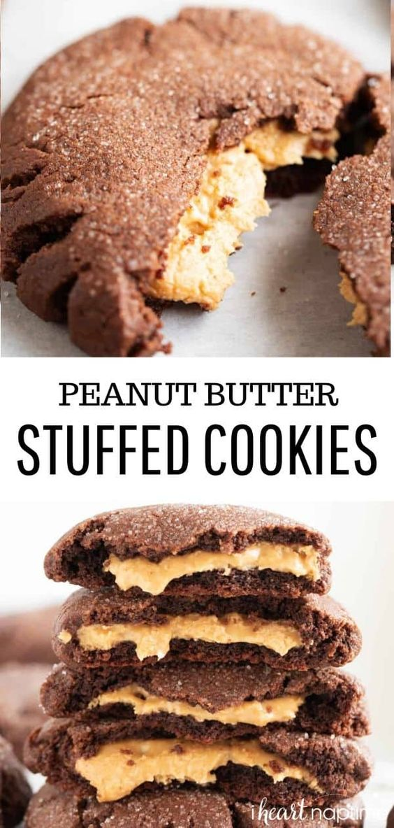 Peanut Butter Stuffed Cookie