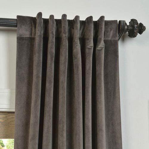 Half Price Drapes Signature Gunmetal Gray 108 X 50 Inch Blackout Curtain Single Panel Vpch 140802 108 Bellacor Velvet Curtains Curtains Half Price Drapes