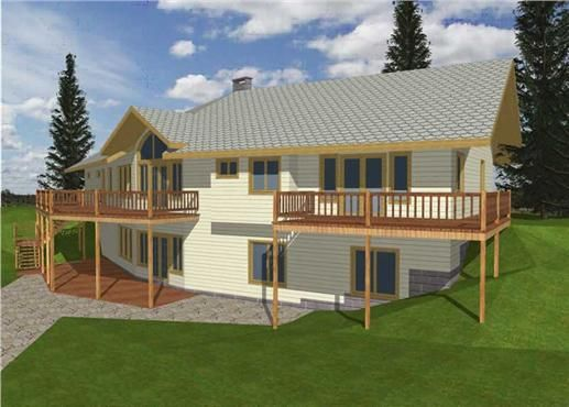 One of our concrete block icf design house plans with a for Icf home designs