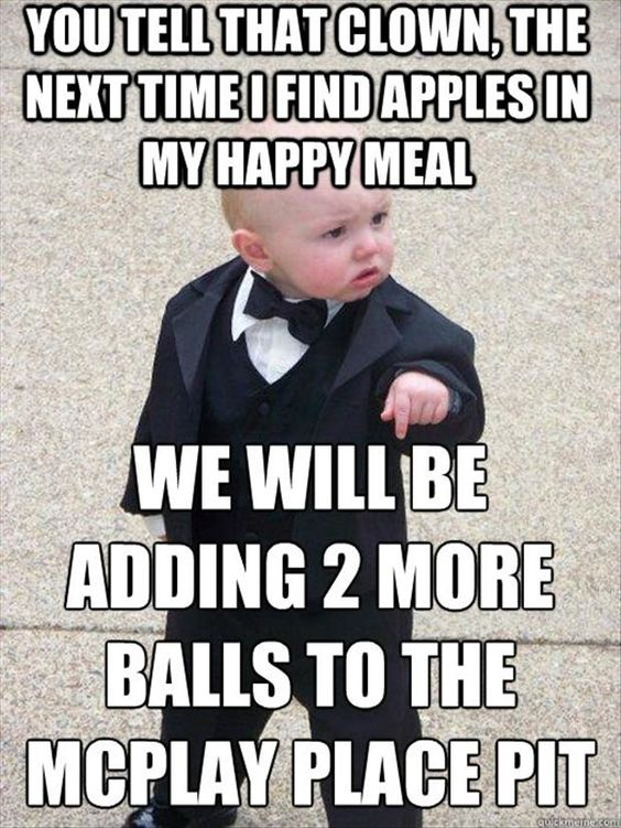 Funny Memes For Happy Hour : Baby meme funny mcdonalds happy meal famously and