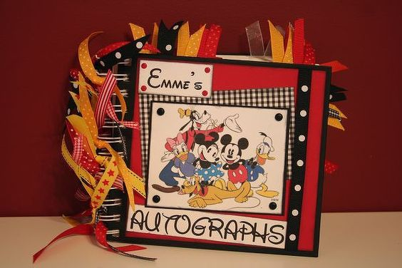 Disney Autograph Album - Two Peas in a Bucket: Disney Autograph Books, Disney Cruise, Disney Vacation, Disney Planner Autograph Book, Scrapbooking Disney
