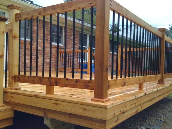 Best Lowe S Deck Railing Spindles Wood 100S Of Deck Railing Ideas Http Awoodrailing Com 2014 11 16 400 x 300