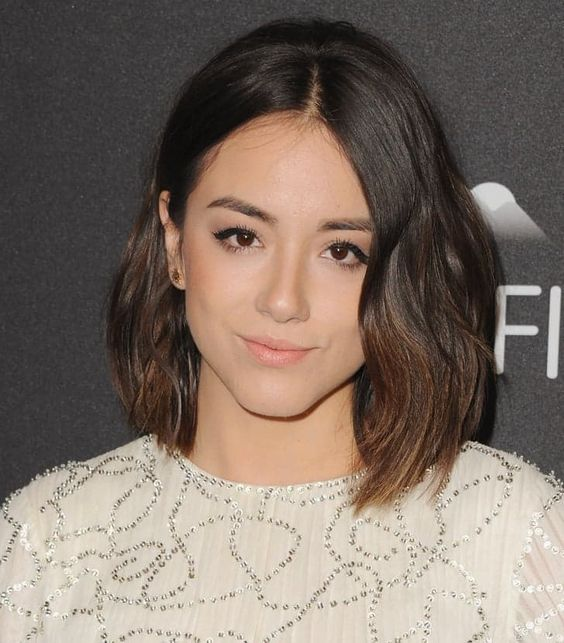 Pin for Later: 30 Brand-New Celebrity Bobs to Try For 2016 Chloe Bennet