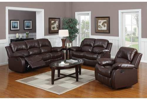 Bryce 3 Piece Faux Leather Reclining Living Room Set Living Room Leather Leather Living Room Set Living Room Sets Furniture