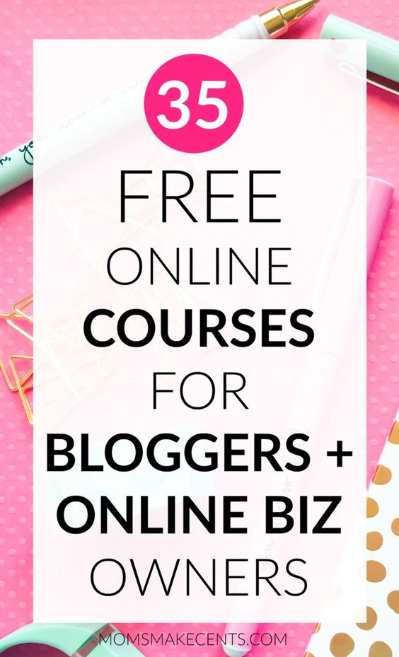 35+ FREE courses for Bloggers and Online business owners. Learn about blogging, photography, social media, Pinterest, entrepreneurship, design, branding, SEO and more!: