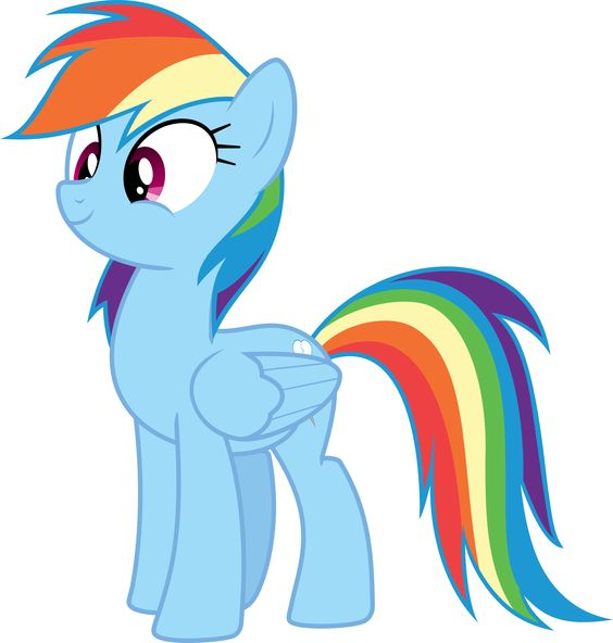Rainbow Dash Looking Cute by mortris @deviantart