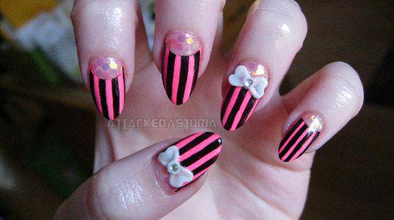 felt like something cute this weekend. #nail #art #nail_art #nail_design #nails
