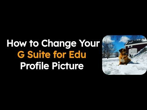 How To Change Your G Suite Profile Picture Youtube Profile Picture Profile You Changed