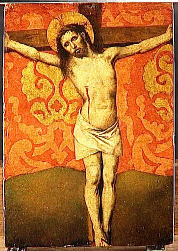 Barthélemy d'Eyck, Christ en croix (ca. 1460, Musée du Louvre, Paris).