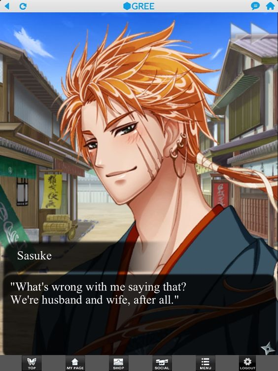 Can you imagine someone like Sasuke marrying as young as he is? Then again, he could be older...I found that he was 23 on a database, but it could be wrong...