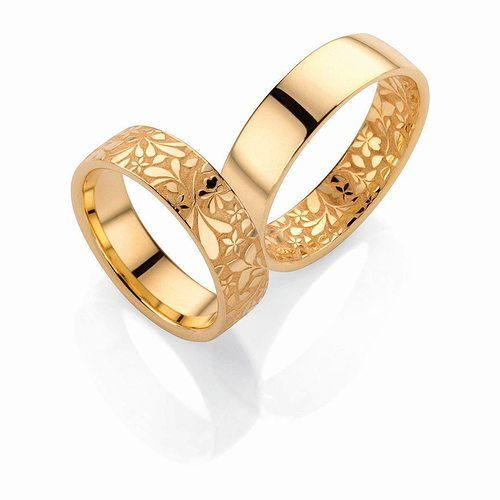 Wedding Bands Flora 3d Print Model Couple Wedding Rings Couple Ring Design Floral Engagement Ring