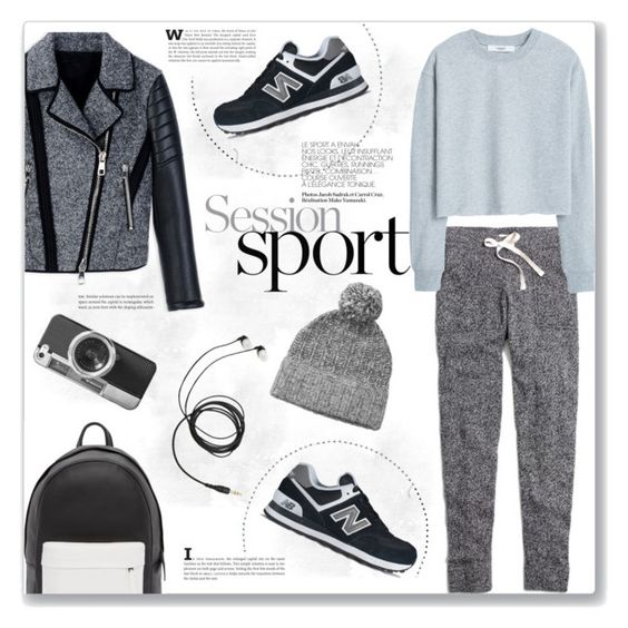 """Session sport"" by bogira ❤ liked on Polyvore featuring PB 0110, New Balance, Madewell, MANGO, Neil Barrett, rag & bone, Casetify, sporty, fashiontrend and fashionset"