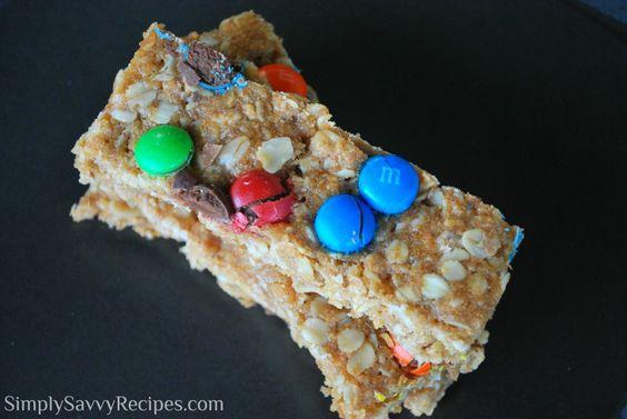 M & M Granola Bars | Simply Savvy Recipes