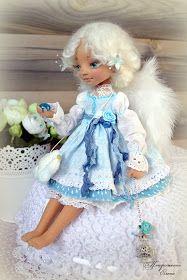 Коллекция кукольных фантазий: Лея - ангел, собирающий дождики. Дубль-2