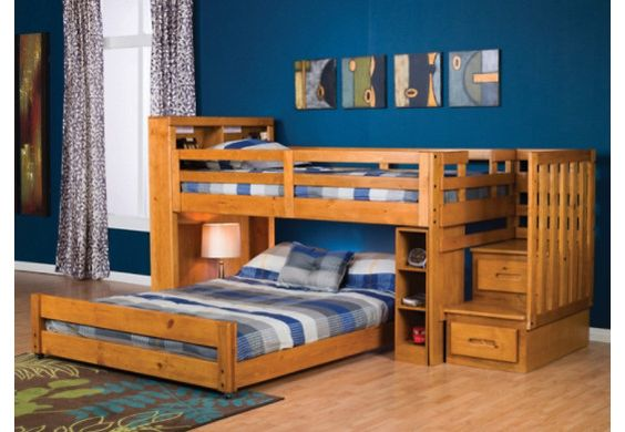 ponderosa twin full bookcase loft bed 2