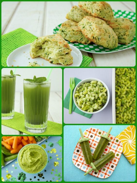 Green Recipes for St Patrick's Day from Weelicious.com