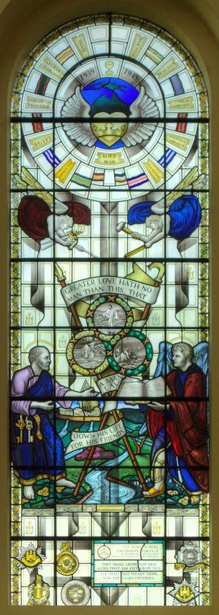 WW1 & WW2 memorial windows - Artist: Petri Anderson - Haileybury, Hertford, United Kingdom
