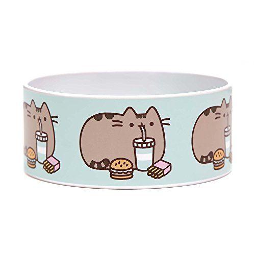 Funny Cat Food Bowls Pusheen Fast Food Ceramic Cat Bowl 3 Cup