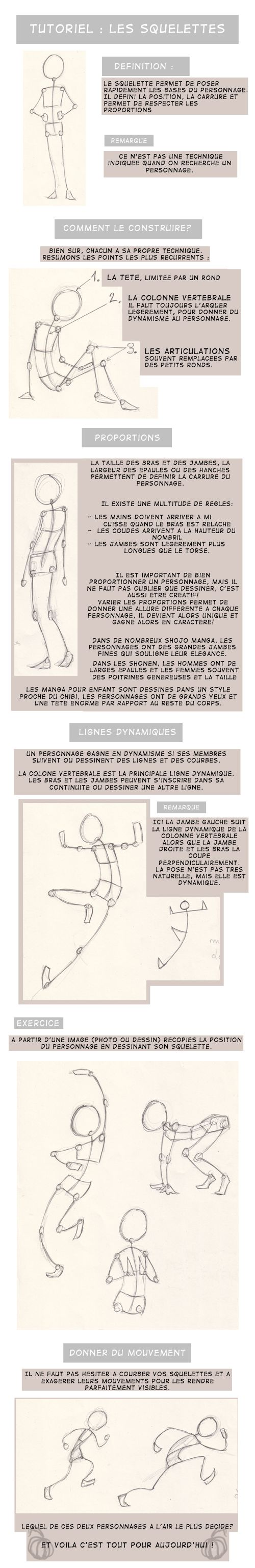 Tuto squelette -only french- by potiron02.deviantart.com on @deviantART