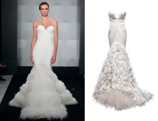 Mark zunino mermaid wedding dresses and mermaid wedding for Kleinfeld mermaid wedding dresses