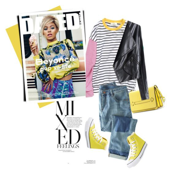"""Colour Play"" by genuine-people ❤ liked on Polyvore featuring Wrap, Converse and yellow"