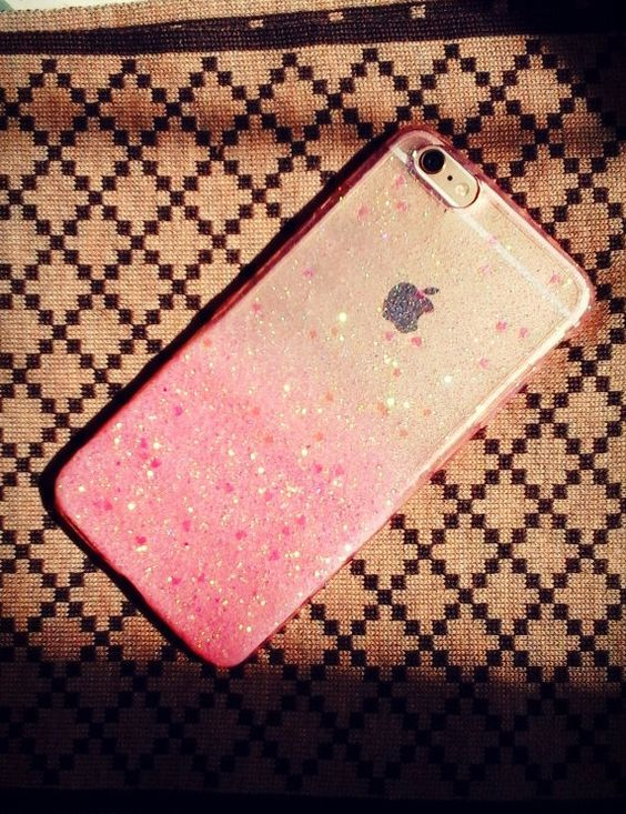 iridescence glitter pink Ombre iphone Case cover skin 5s 6 plus samsung galaxy s5 s6 edge gel Hard transparent clear heart stars extra fine by emsparklie on Etsy https://www.etsy.com/listing/240694429/iridescence-glitter-pink-ombre-iphone