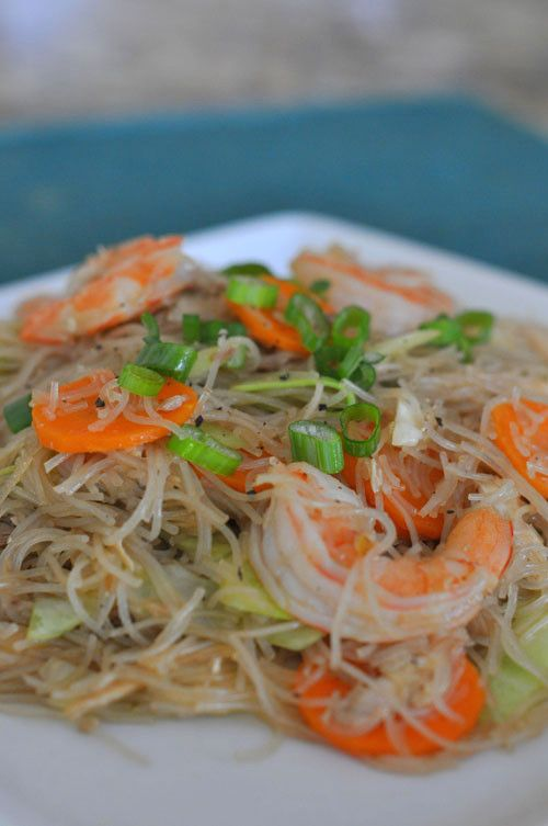 Pancit Bihon Recipe (Filipino Fried Rice Noodles) | Easy Asian Recipes ...