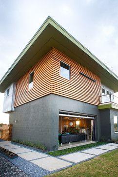 Open living space cedar rain screen commercial glass - Commercial aluminum exterior doors ...