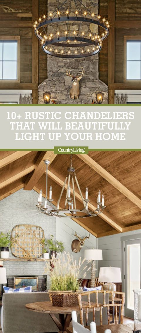 12 Rustic Chandeliers That Will Beautifully Light Up Your Country