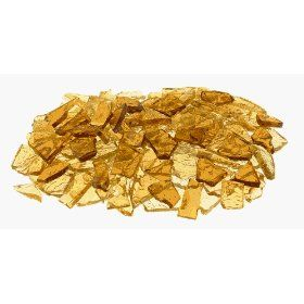 Mixed Gold Stained Glass Cobbles-8 ounces(half pound) $12.50