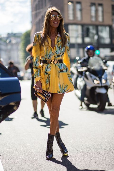 Anna Dello Russo Is All Sunny Yellows For Milan: