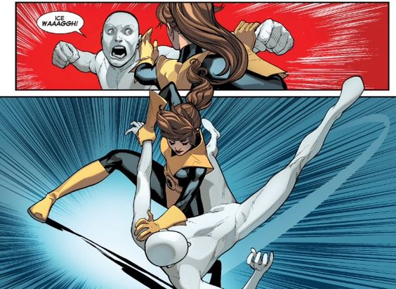 Kitty pryde vs ice man-no powers
