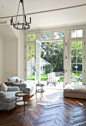 love the wood floors and windows here | Gwyneth Paltrow and Chris Martin Buy a Home in Los Angeles