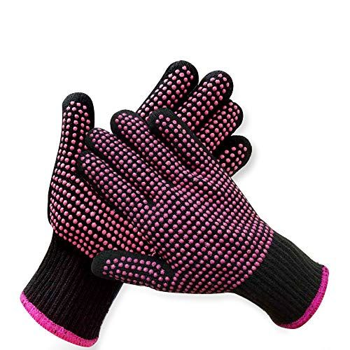 2 Pcs Professional Heat Resistant Glove For Hair Styling Heat Blocking Gloves For Curling Flat Iron And Hair St In 2020 Heat Resistant Gloves Hair Tools Styling Tools