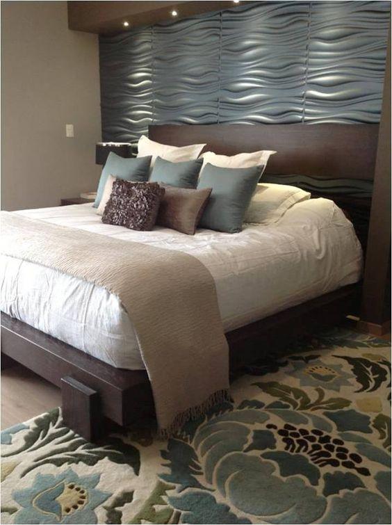 Papel tapiz gris tapiz pinterest camas for Papel de decoracion para habitaciones