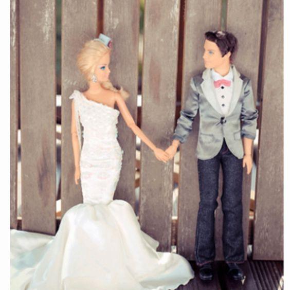 Barbie and Ken's wedding album - hilarious!  looks just like every wedding shoot I've ever seen haha