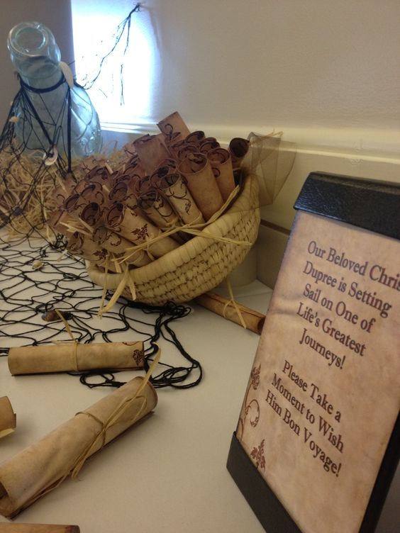 Message In A Bottle Table For Beach Themed Retirement