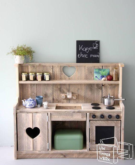 Dirt Cheap Decor Play Kitchen And Food Diy: Steigerhouten Kinderkeukens Te Koop Bij Uw Timmerwerk