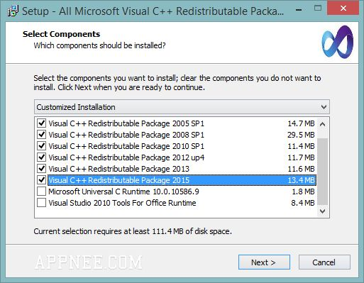 Microsoft Visual C++ Redistributable Collections