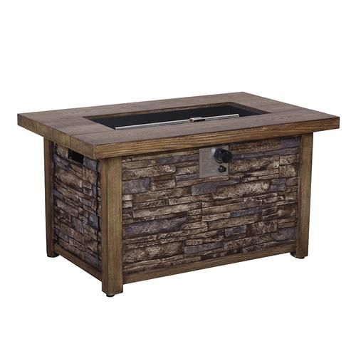Backyard Creations Stackstone Propane Gas Fire Pit Table At Menards Backyard Creations Reg Stackstone Pro Gas Fire Pit Table Gas Firepit Backyard Creations