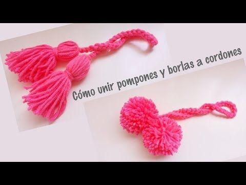 3188 Cómo Unir Pompones Y Borlas A Cordones Tejidos Youtube Pompones Cordones Crochet Borla De Lana