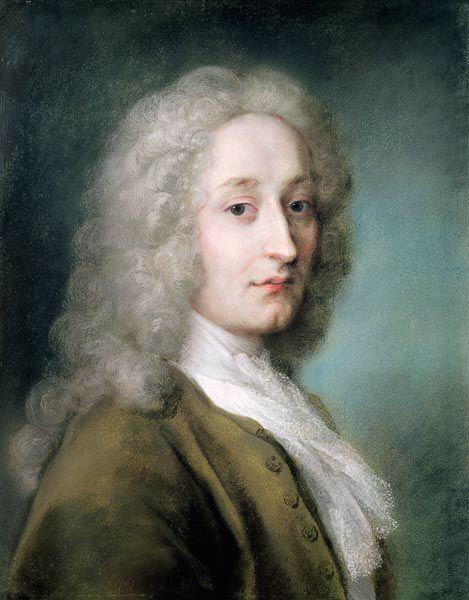 Portrait of Antoine Wateau - Rosalba Carriera
