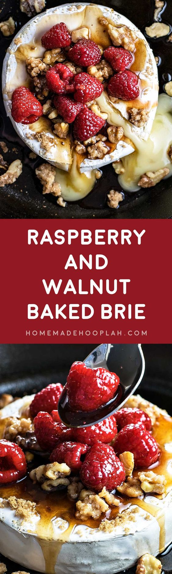 Raspberry and Walnut Baked Brie! Warm baked brie topped with brown ...