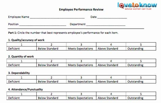 40 Employee Performance Evaluation Template Employee Performance