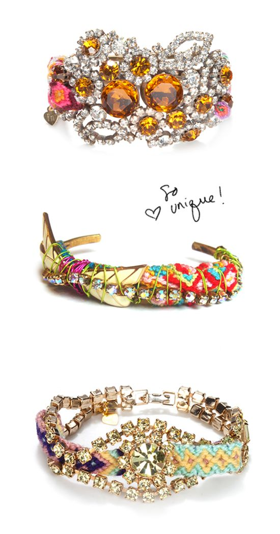 Buy a vintage bracelet, weave in some embroidery floss and you've got yourself a kick-ass friendship bracelet