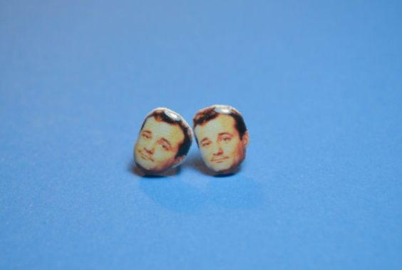 Keep this amazing actor close with these funny earrings. These stud post earrings feature classic Bill on lightweight plastic charms. They are