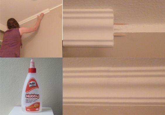 Moldura de Isopor no Teto- Faça você mesmo!: Frame, Room Decor, Decoration For